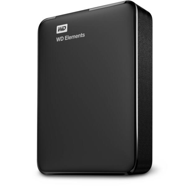 """Външен хард диск Western Digital Elements Portable, 2TB, 2.5"""", USB 3.0, Black"""