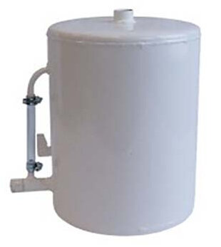 Cylindrical expansion vessel for open system, Vertical model