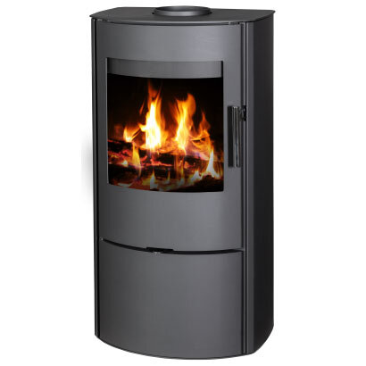 Wood burning stove with modern and elegant design