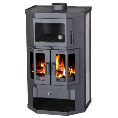Stove with oven and hexagonal shape