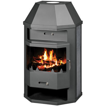Multi Fuel Boiler Stove with hexagonal shape and very large combustion chamber
