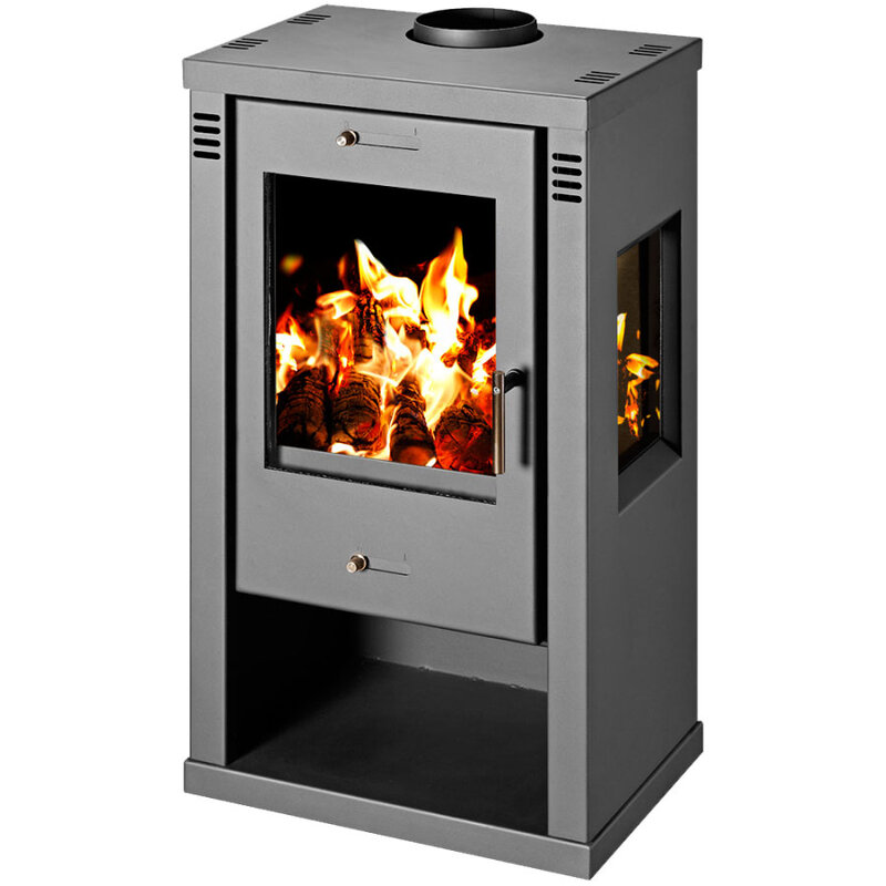 Wood Burning Stove with windows on the sides