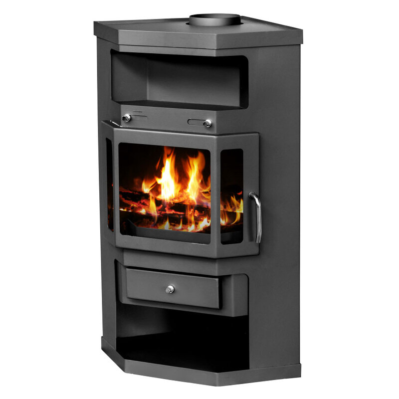 Wood Burning Stove for corner placement