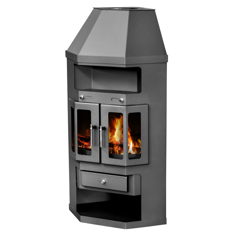 Wood Burning Stove with 2 doors and arch