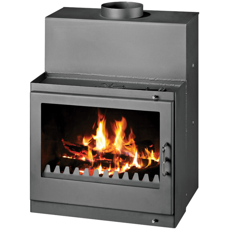 Fireplace with Back Boiler with very high power
