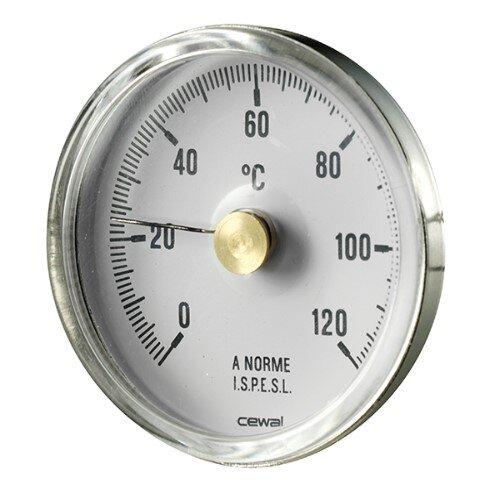 Bimetallic inox thermometer Cewal, Rear stem 50mm x 1/2''