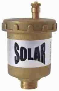"Automatic vent APM, Straight 1/2"", Solar"
