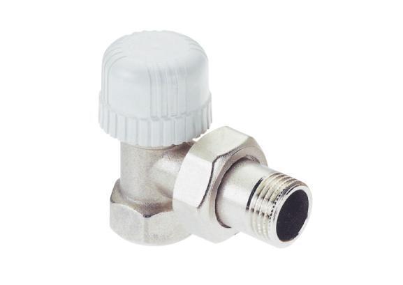 "Radiator valve 1/2"", Angled ICMA 774 for Thermostatic head (M28x1.5)"