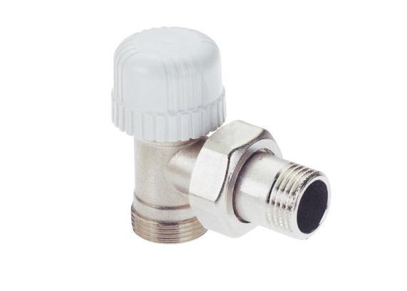 Radiator valve angled ICMA 770 for Thermostatic head (M28x1.5), for Adapter ICMA 90/100 (M24x1.5)