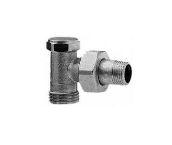 "Radiator lockshield valve ICMA 827, Angled 1/2"""