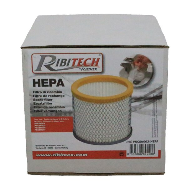 Hepa Filter for ash vacuum cleaner Ribitech, Model Cenerill