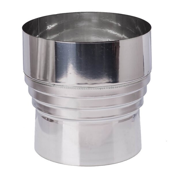 Flue pipe increasing/reducing adapter, Stainless steel AISI 304