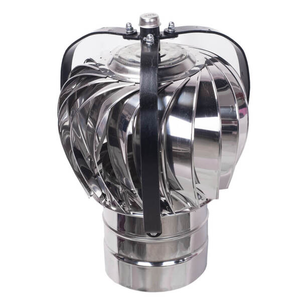 Aspiromatic revolving chimney cowl T400, Stainless steel AISI 304