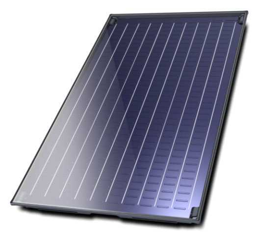 Flat plate solar collector Bosch, Model 5000TF 2.4m², Vertical mounting