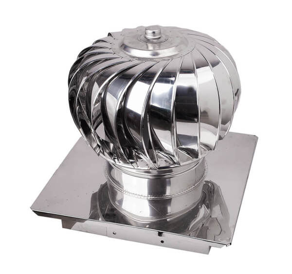 Aspiromatic revolving chimney cowl, Stainless steel AISI 304, Regulated square base
