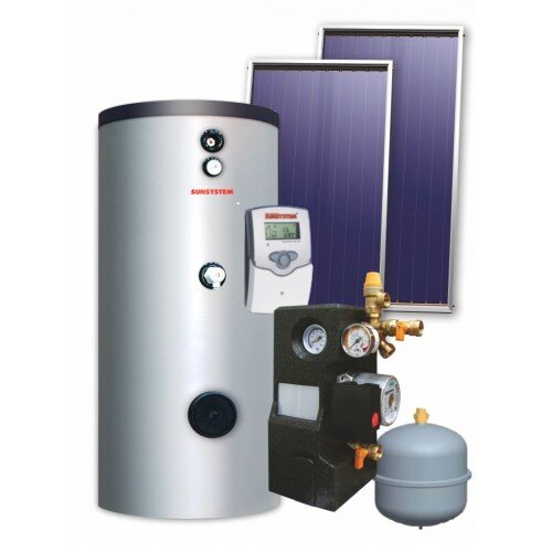 Solar kit Sunsystem, Water heater SN 500L, Panels 5 x 2.15m²