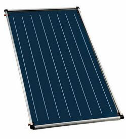 Flat plate solar collector Bosch, Model 4000TF 2.1m², Vertical mounting