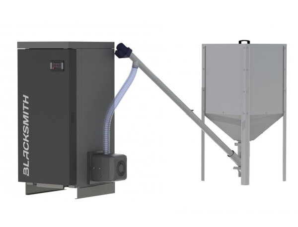 Pellet boiler Blacksmith BS-B45X - Pellas X Revo, 45kW