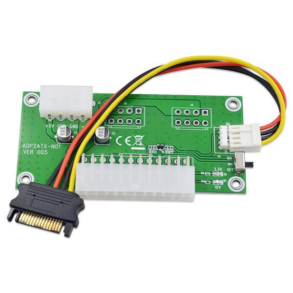 Mining ATX 24 Pin to molex 4 Pin dual PSU Power Supply Sync Starter