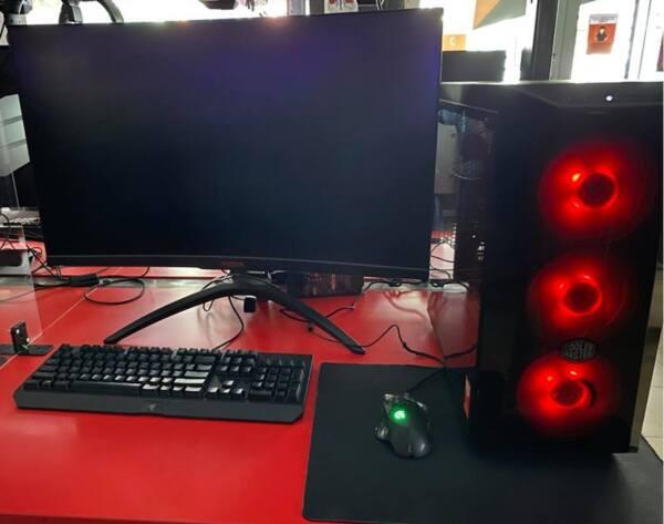 """Πακέτο Mid level Gaming PC, 1060 6Gb, Intel i5 8400, 16 Gb RAM, 500 Gb SSD,1 Tb HDD, Cooler Master case, Οθόνη Benq 31,5"""", 144 Hz"""