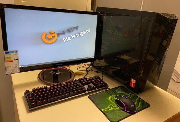 """Πακέτο Mid level Gaming PC, 1060 6Gb, i5 7600K, 16 GB, SSD: 120 Gb, HDD: 500 Gb, Cooller Master case, 24"""" monitor 144Hz"""