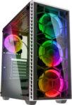 Kolink Observatory RGB Midi-Tower, Tempered Glass PC Case - white Window