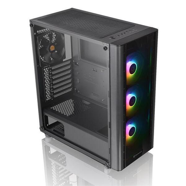 THERMALTAKE Case Versa V250 TG ARGB Tempered Glass Middle ATX Black USB 3.0