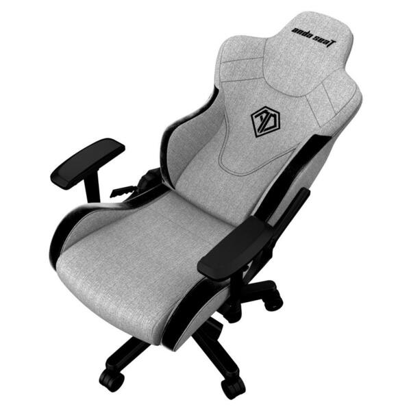 ANDA SEAT Gaming Chair T-PRO II Light Grey/ Black FABRIC with Alcantara Stripes