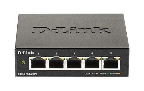 DLINK DGS-1100-05V2 SMART SWITCH 5 PORTS