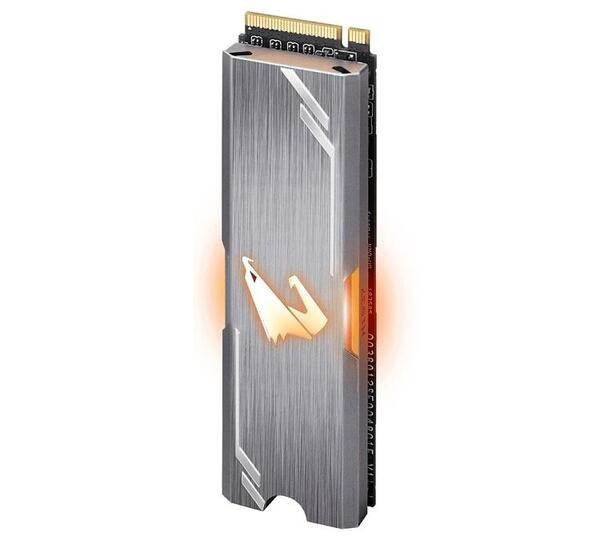 GIGABYTE SSD M.2 AORUS RGB, 512GB, PCIe, NVMe, AES 256