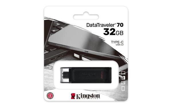 KINGSTON USB Stick Data Traveler DT70/32GB, USB 3.2 Type-C, Black