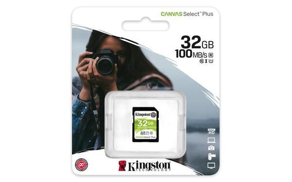 KINGSTON Memory Card Secure Digital Canvas Select Plus SDS2/32GB, Class 10