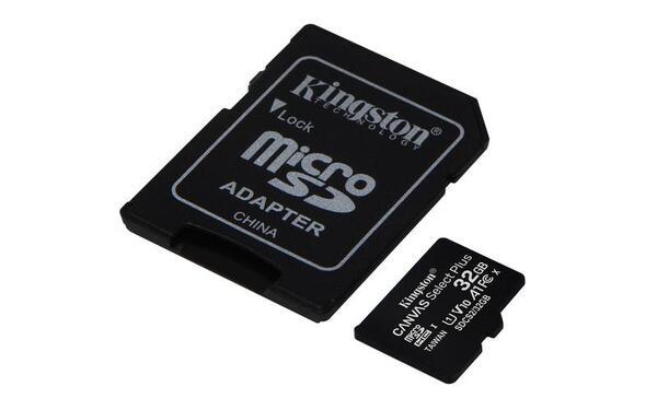 KINGSTON Memory Card MicroSD Canvas Select Plus SDCS2/32GB, Class 10, SD Adapter