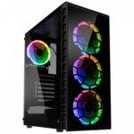 Kolink Observatory RGB Midi-Tower, Tempered Glass PC Case - Black Window