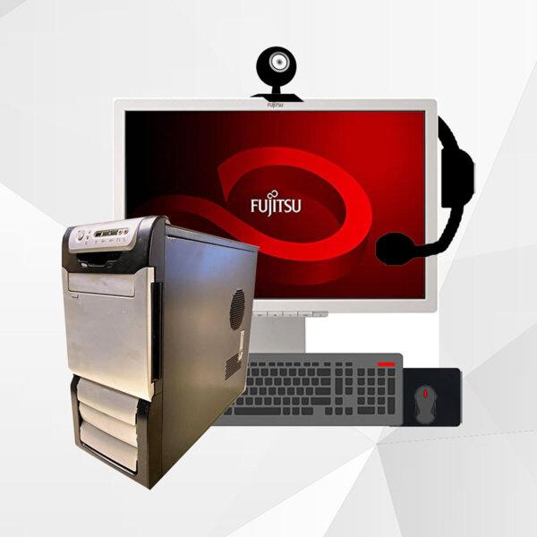 Πακέτο Γραφείου με Οθόνη/Κάμερα/Πληκτρολόγιο/Ποντίκι/Ακουστικά
