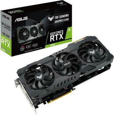 VGA Κάρτα γραφικών Asus GeForce RTX 3060 12GB TUF Gaming OC