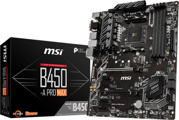 MSI B450-A Pro Max Motherboard ATX με AMD AM4 Socket