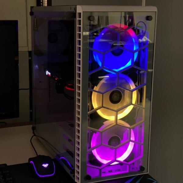 Mid level Gaming PC Intel Core i5 4460, GTX1080 8Gb , B85-HD3, 16Gb DDR3, SSD: 120 Gb, HDD: 1 Tb, RGB λευκό κουτί