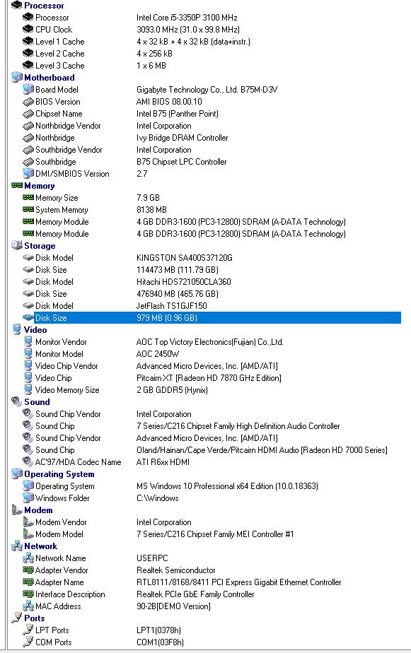 Refurbished Gaming PC Intel Core i5-3350P, HD 7870, B75M-D3V, 8GB DDR3