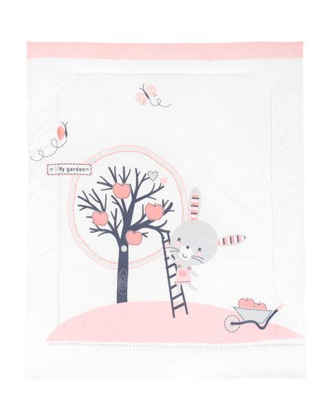 Олекотено одеяло ранфорс 90/110см Pink Bunny