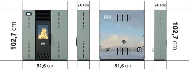 Pellet stove Eco Spar Gemini 8kW