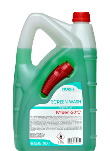 Tечност за чистачки NORTH готова за употреба -20C 5L