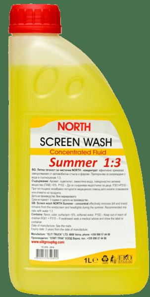 Течност за чистачки концентрат NORTH лято 1:3 1L