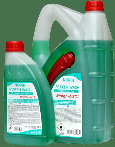 Течност за чистачки концентрат NORTH -60C