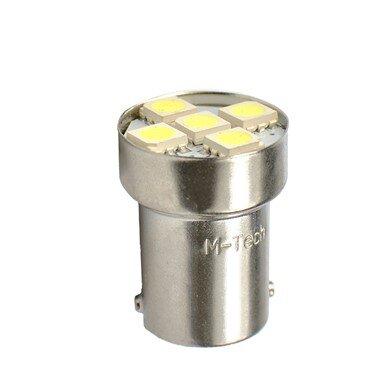 LED L075W BA15s 5xSMD5050 White M-TECH крушка