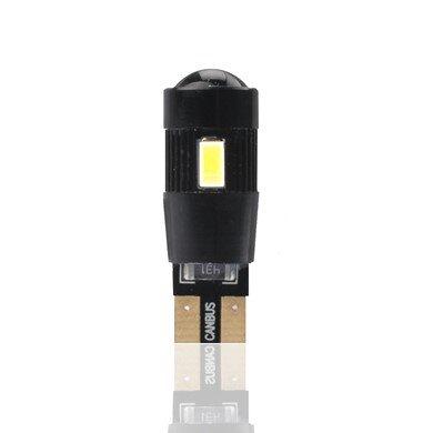 LED W5W 6xSMD5730 12V CANBUS крушка с обектив L339W
