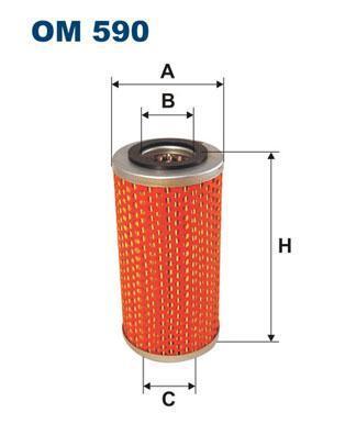 FILTRON OM590 маслен филтър /HENGST E140H/
