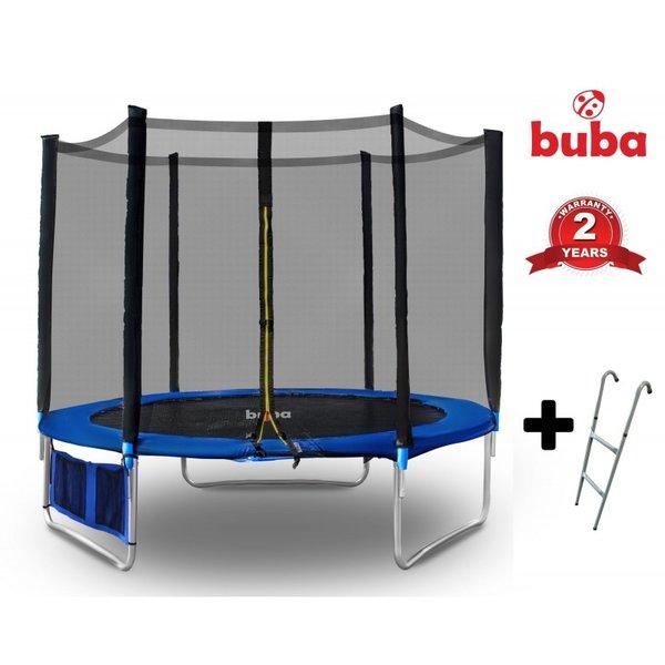 Детски батут Buba 8FT (252 см) с мрежа и стълба