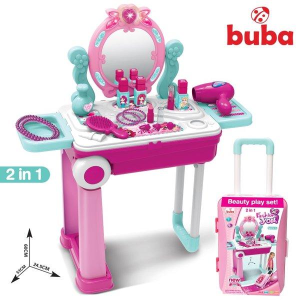 Комплект за игра – Тоалетка, Розов Куфар