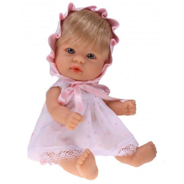 Кукла-бебе Чикита, с розова рокличка и шапка